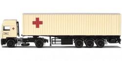 Volvo F Glob. Container-Sattelzug Rotes Kreuz